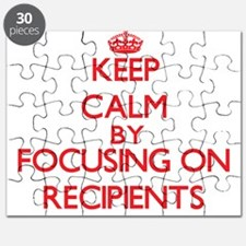 Keep Calm by focusing on Recipients Puzzle