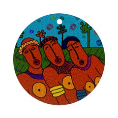 African Folkart Ornament (Round)