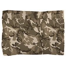 Tan Camouflage Pattern Pillow Sham