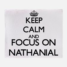 Keep Calm and Focus on Nathanial Throw Blanket