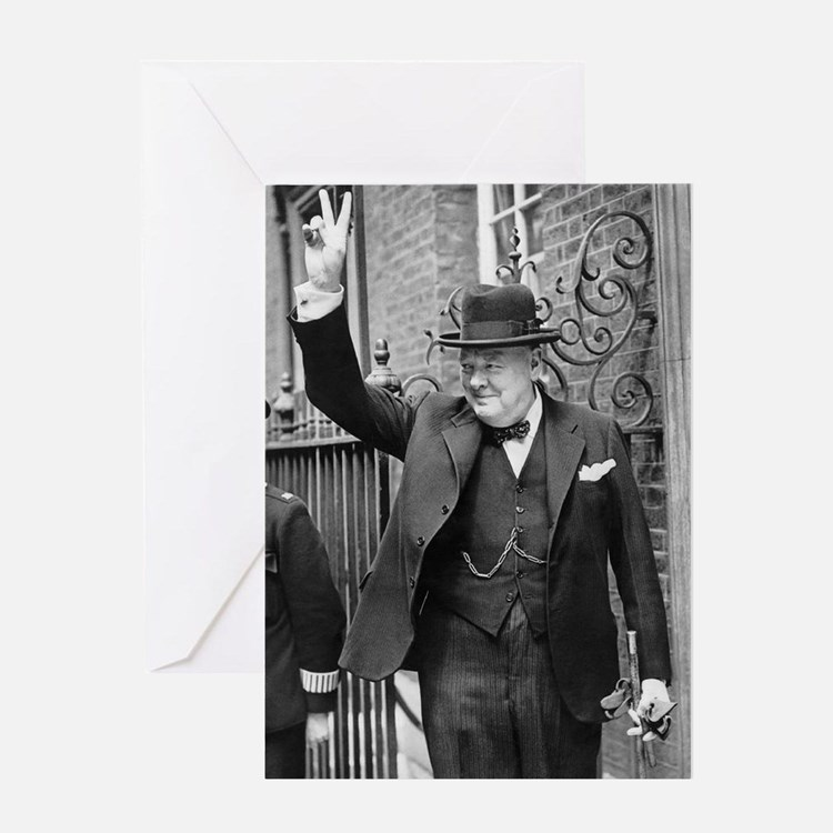 winston churchill Greeting Cards