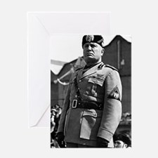 benito mussolini Greeting Cards