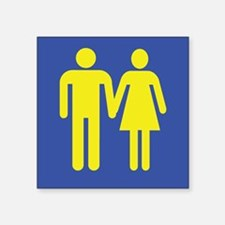 "Cute Anti gay marriage Square Sticker 3"" x 3"""