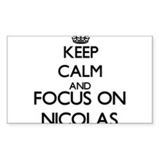 Keep Calm and Focus on Nicolas Decal