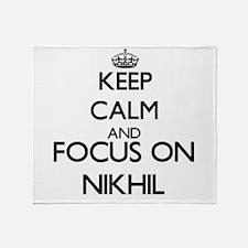 Keep Calm and Focus on Nikhil Throw Blanket