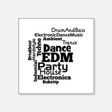 EDM Word Cloud Sticker