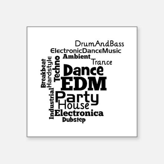 EDM Word Cloud Sticker