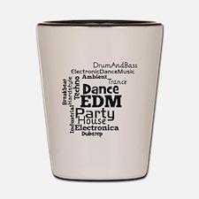 EDM Word Cloud Shot Glass
