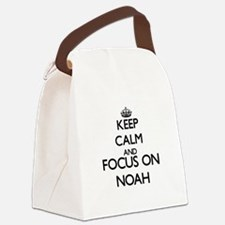 Keep Calm and Focus on Noah Canvas Lunch Bag