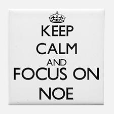 Keep Calm and Focus on Noe Tile Coaster