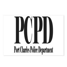 Port Charles Police Department Black Letters Postc