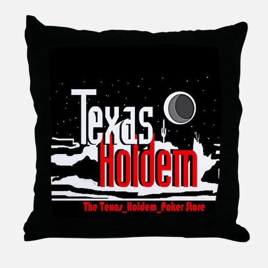 The Texas Holdem Poker Store Throw Pillow
