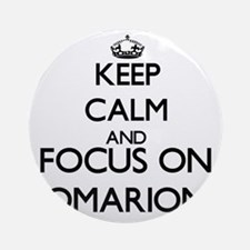 Keep Calm and Focus on Omarion Ornament (Round)