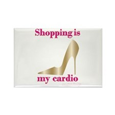Shopping is my Cardio 2 Rectangle Magnet