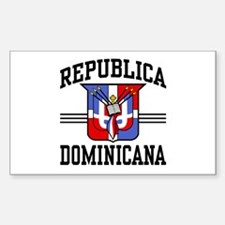 Republica Dominicana Rectangle Decal