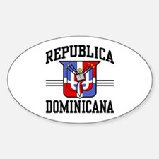 Republica Dominicana Oval Decal