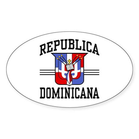 Republica Dominicana Oval Sticker