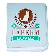 Laperm Cat Lover baby blanket