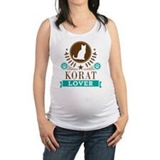 Korat Cat Lover Maternity Tank Top