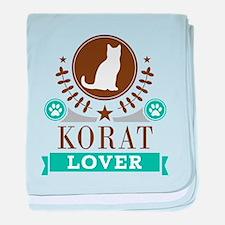 Korat Cat Lover baby blanket