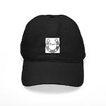 COWGIRL SILVER HORSEHOE Black Cap