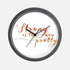 Strong is the New Pretty Wall Clock