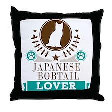 Japanese Bobtail Cat Throw Pillow