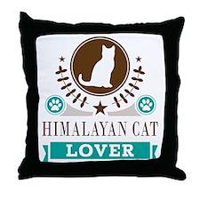 Himalayan Cat Lover Throw Pillow
