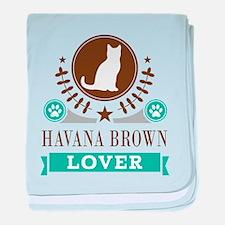 Havana Brown Cat baby blanket