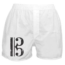 Distressed Alto Clef C-Clef Boxer Shorts