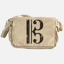 Distressed Alto Clef C-Clef Messenger Bag