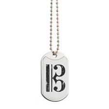 Distressed Alto Clef C-Clef Dog Tags