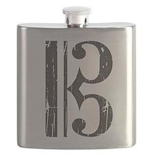 Distressed Alto Clef C-Clef Flask