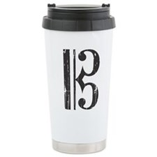 Distressed Alto Clef C- Travel Coffee Mug