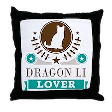 Dragon Li Cat Lover Throw Pillow