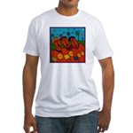 African Folkart Fitted T-Shirt
