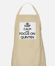 Keep Calm and Focus on Quinten Apron