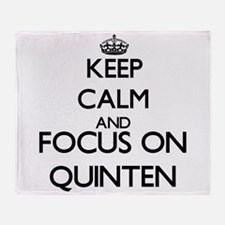 Keep Calm and Focus on Quinten Throw Blanket