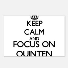 Keep Calm and Focus on Qu Postcards (Package of 8)