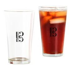 Distressed Alto Clef, C Clef Drinking Glass