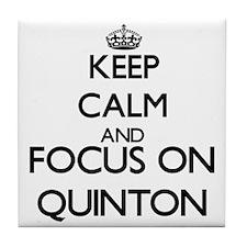 Keep Calm and Focus on Quinton Tile Coaster