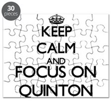 Keep Calm and Focus on Quinton Puzzle