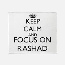 Keep Calm and Focus on Rashad Throw Blanket