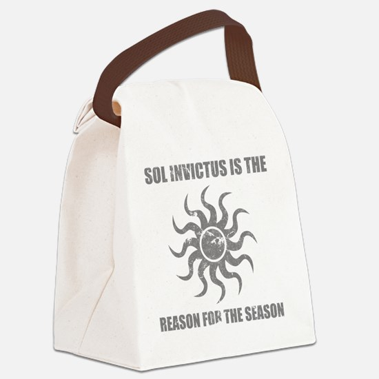 Sol Invictus Christmas Canvas Lunch Bag