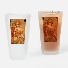 Unique Art nouveau Drinking Glass