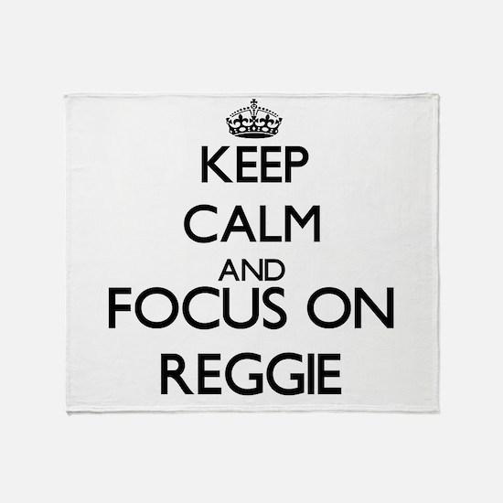 Keep Calm and Focus on Reggie Throw Blanket