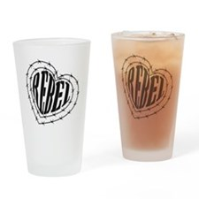 REBEL HEART BARB Drinking Glass