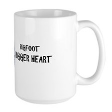 Bigfoot/bigger Heart Pnweird Mug Mugs