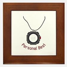 Personal Best Framed Tile