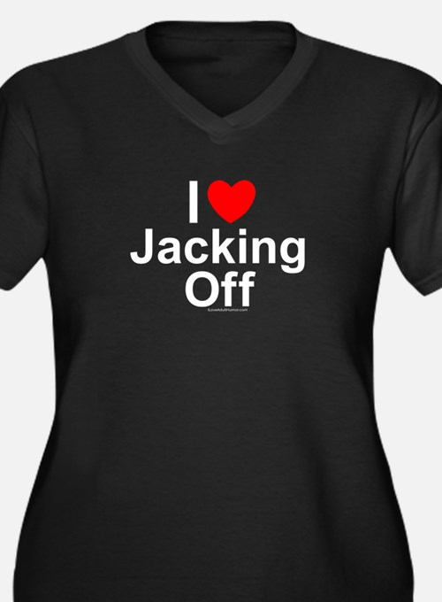 Jacking Off Women's Plus Size V-Neck Dark T-Shirt